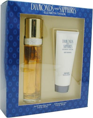 Diamonds & Sapphires By Elizabeth Taylor For Women, Set-edt Spray 3.3 Ounce & Body Lotion, 3.3-Ounce