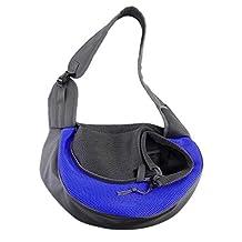 ASOCEA Portable Pet Dog Cat Puppy Carrier Outdoor Sling Carrier Bag Single Shoulder Bag for Small Dog (Medium)