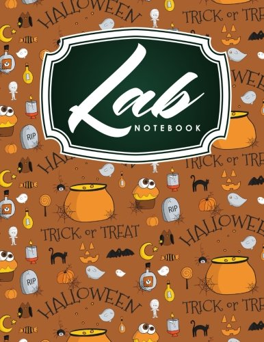 (Lab Notebook: Lab Notebook Blank Pages, Organic Chemistry Lab Notebook, Lab Notebook Grid, Chemistry Lab Notebook, Cute Halloween Cover (Lab Notebooks) (Volume)