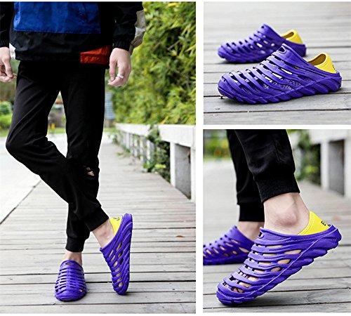 Men Summer Casual Slippers Sandals EVA Shoes Blue Garden For Fashion Kqpoinw Air Mens Beach Mesh Clogs 6nIwYzxdFq