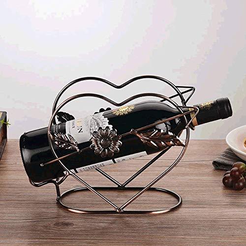 Tritow God Of Love Europeo Hierro forjado Estante de vino Decoración Moda Hogar Botella de vino Estante Soporte de...