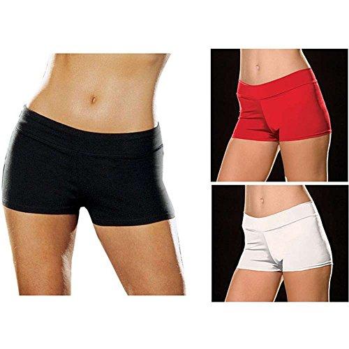 (Roxie Hot Shorts Adult Underwear Black - Plus Size 1X/2X)