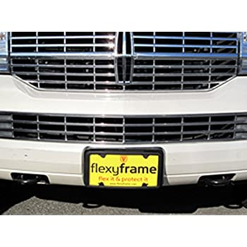 A NASA-like Rubber License Plate Bracket Frame Holder Guard Bumper for DODGE