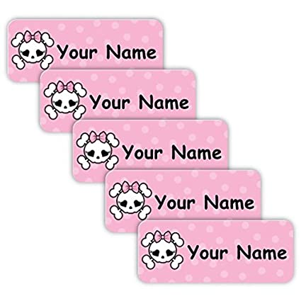 and Babies School Original Personalized Peel and Stick Waterproof Custom Name Tag Labels for Adults Toddlers or Daycare Use for Office Kids Rainbow Theme