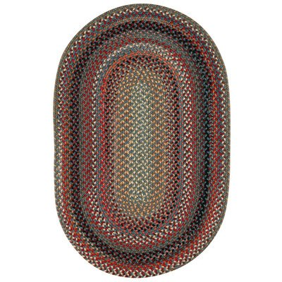 Concentric Rectangle Braided Rugs (Portland Medium Blue Multi Rug Rug Size: Concentric 4' x 6')