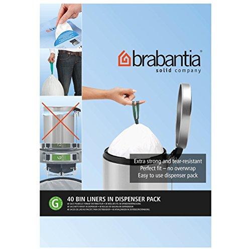 Brabantia Smartfix Bin Liner Dispenser Pack Size G 30L (20) - Pack of ()