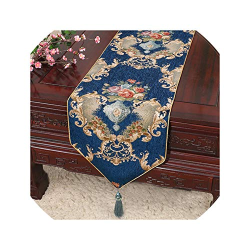 Chenille Table Runner Table Cloth Decor Table Flag Tea Table Cloth Bed Flag Pendant,33X200Cm,Style 12