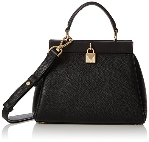 (Michael Kors Womens Gramercy Sm Th Satchel Top-Handle Bag Black (Black) )