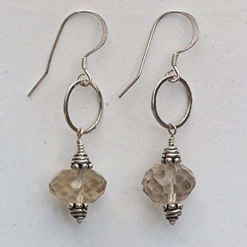 Diana Quartz Earrings - Smoky Quartz Earrings