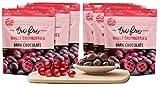 Tru Fru Dark Chocolate Dipped Freeze-Dried Whole Cranberries (3.2oz),6-Pack Case