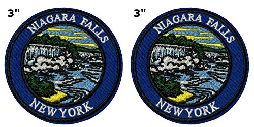 Niagara Falls National Park Series 2-Pack Embroidered Patch Iron-on Sew-on Explore Nature Outdoor Adventure Explorer Souvenir Travel Vacation Emblem -