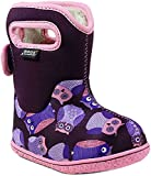 Bogs Baby Owls Snow Boot, Purple/Multi, 9 M US Toddler