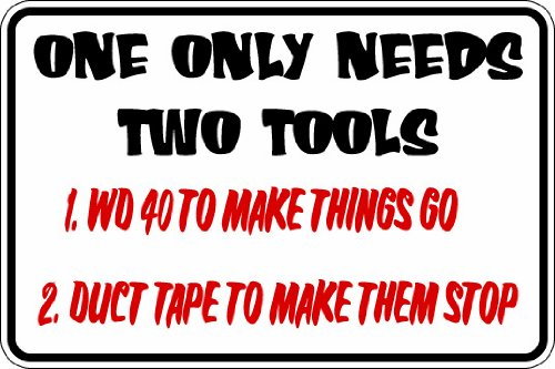 Sign Parking Nascar ((Misc81) One Only Needs 2 Tools Mechanic Garage Worker Humorous Novelty Parking Sign 9