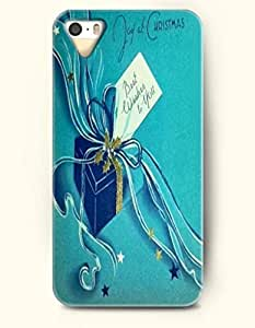 SevenArc iPhone 5 5s Case - Joy At Christmas Gift Best Wishes For You In Dark Turquoise Background by icecream design
