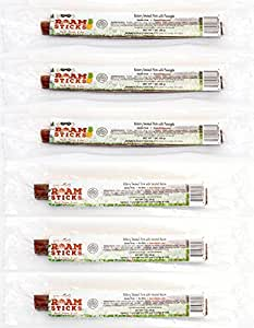 Roam Sticks Sampler - Hickory Smoked Pasure Raised Pork Stick with Uncured Bacon and Pork with Pineapple - 1 oz (3 of each flavor)