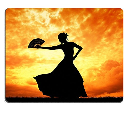 [Luxlady Mouse Pad Natural Rubber Mousepad IMAGE ID 21164069 Woman dancing flamenco] (Glamour Costumes 2016)
