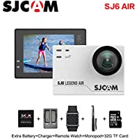 SJCAM SJ6 AIR Sports Action Camera, 1080P Waterproof Action Camera with Mount of Accessories, White