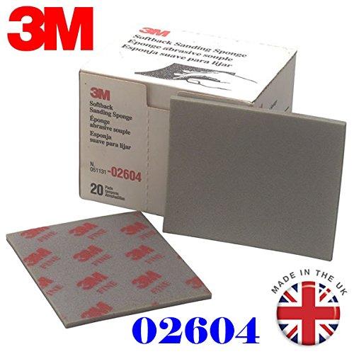 3/M 2604/feines Schleifmittel broschierte Ausgabe Schleifschwamm Grade Serie 320/# 400/# 5/St/ück