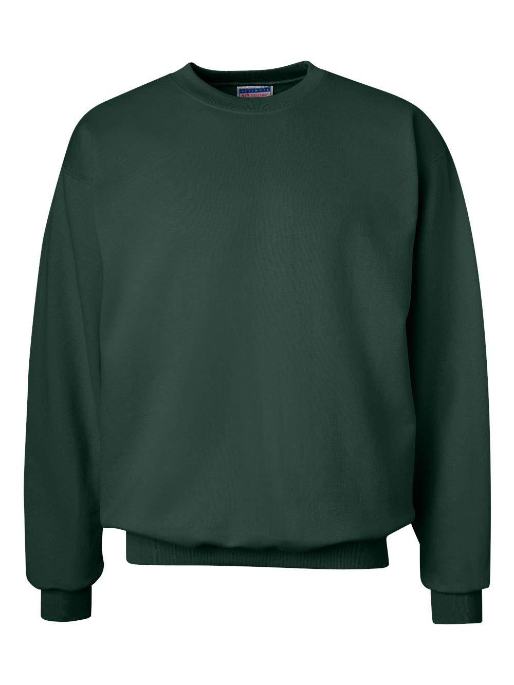 Hanes Men's Ultimate Heavyweight Fleece Sweatshirt, Deep Forest, 3X-Large