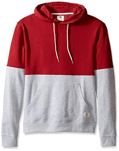 DC Men's Rebel Block Ph Sweatshirt, Chili Pepper, Large