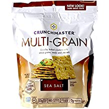 Crunchmaster Cracker - Sea Salt Flavor Gluten-Free, 4.5oz (Pack of 2)