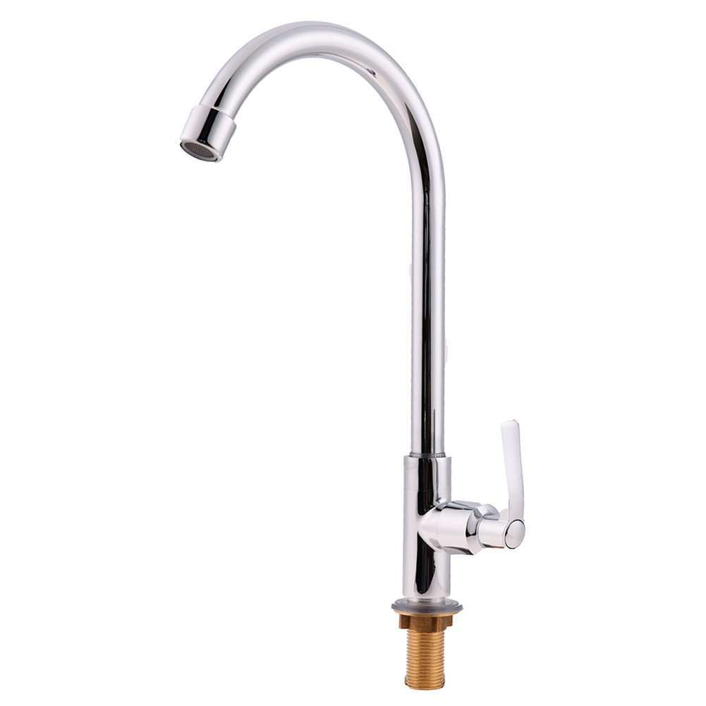 Retro Deluxe Faucetinging Single Handle Kitchen Faucet Single Hole 360 redate Copper Chrome Swivel Sink Water Tap torneira cozinha MFBS