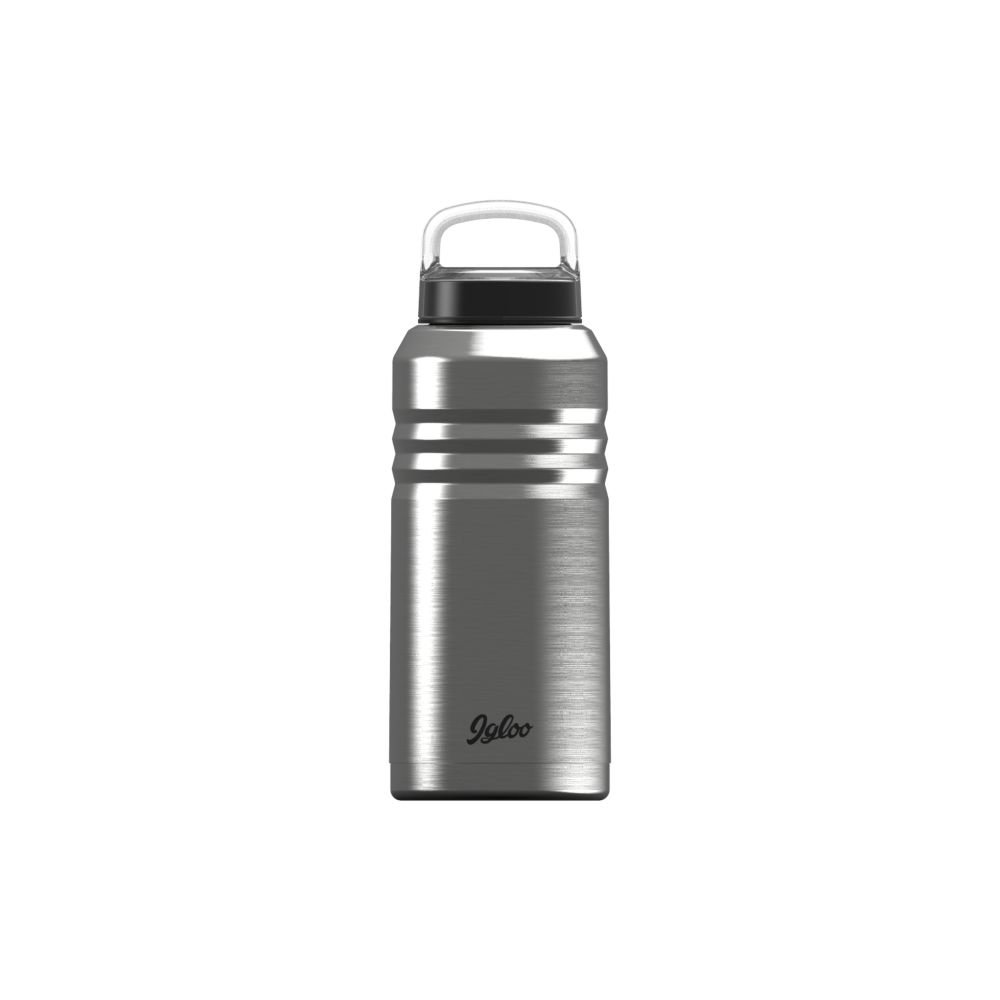 Igloo 64 oz Legacy Growler-Brushed Steel/Black, Steel