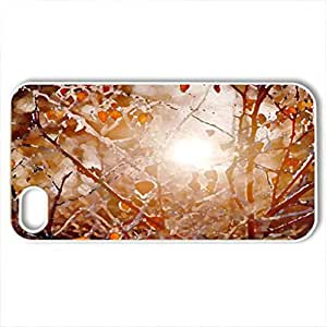 AUTUMN SHINES - Case Cover for iPhone 4 and 4s (Forests Series, Watercolor style, White)
