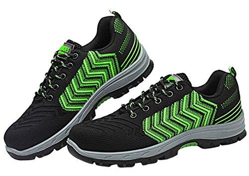 Scarpa Running Da Outdoor Ginnastica Uomo Sneaker Acciaio Scarpe Lavoro Antinfortunistica Sportive pu Green02 66AxS0