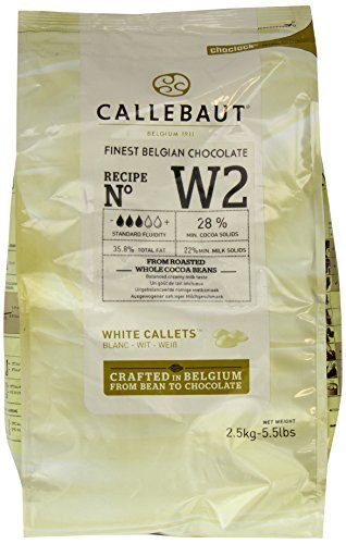 Callebaut White Chocolate Callets 5.5 Lb (2 Pack) ()