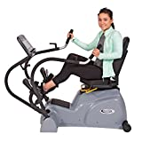 HCI Fitness PhysioStep LXT-700 Recumbent Linear Cross Trainer with Swivel Seat, Dark Grey/Black