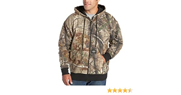 Dickies Mens Signature Thermal Lined Hooded Fleece Camouflage Jacket, Realtree All Purpose HD, XX-Large at Amazon Mens Clothing store: Fleece Outerwear ...