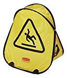 Rubbermaid Commercial FG9S0725YEL Folding Safety Cone with International Wet Floor Symbol, Yellow