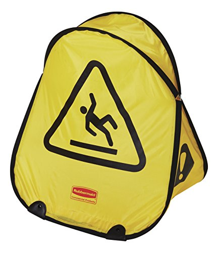 Rubbermaid Commercial FG9S0725YEL Folding Safety Cone with International Wet Floor Symbol, ()