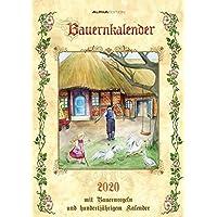 Bauernkalender 2020 - Bildkalender A3 (30 x 42) - mit Bauernregeln und 100-jährigem Kalender - Wandkalender