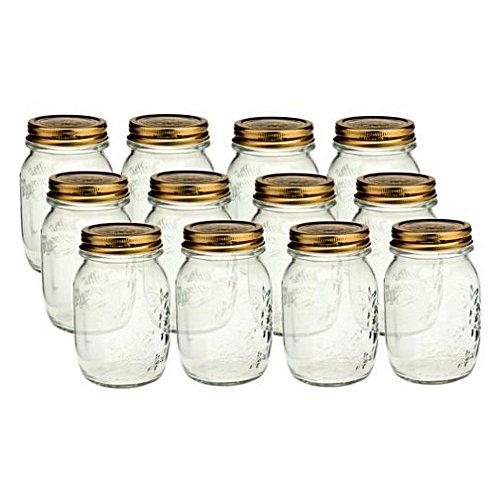 Bormioli Rocco Quattro Stagioni 17 oz. Canning Jar, Set of 12
