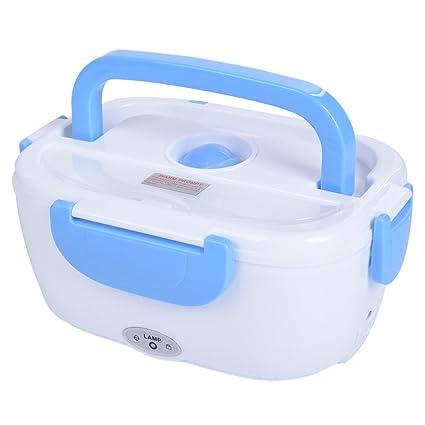 Fiambrera eléctrica comida térmico Lunch Box Tartera electrica coche multifuncion fiambrera mechero 12V calentador de comida