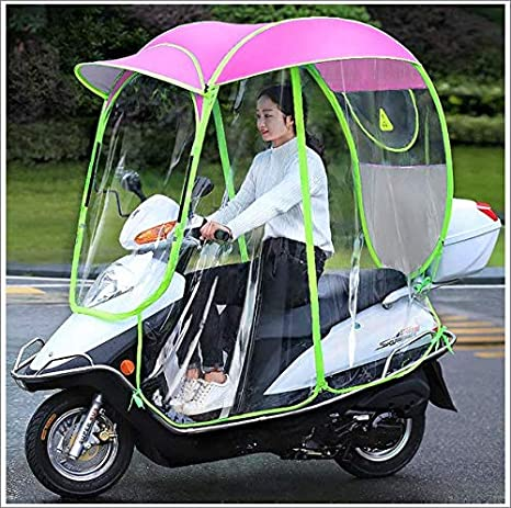 YOUGL Fully Enclosed Motor Scooter Umbrella Mobility Sun Shade /& Rain Cover Waterproof,Universal,B2