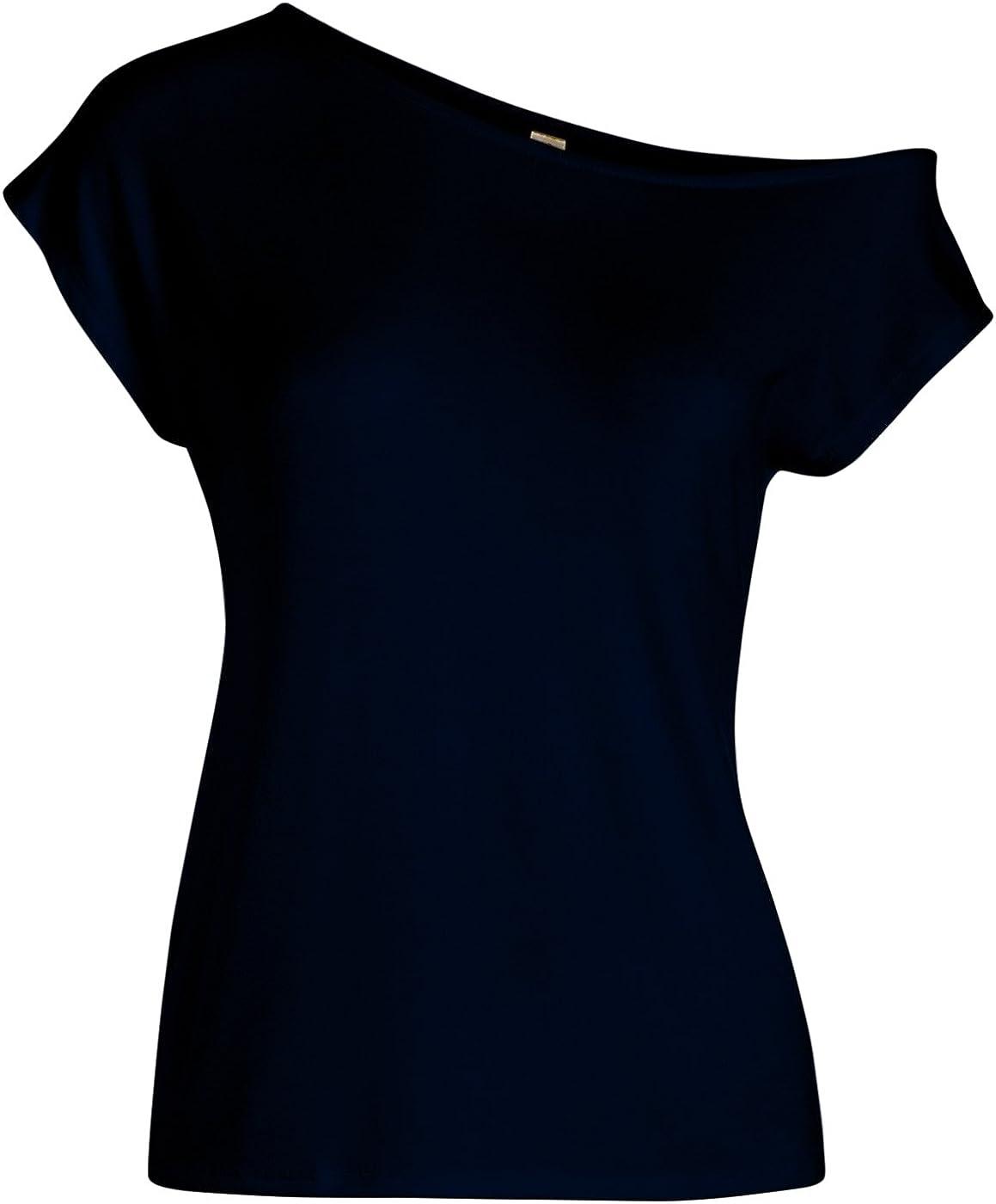 USA Simlu Womens Loose Off Shoulder Tops Short Sleeve Casual T Shirt Top