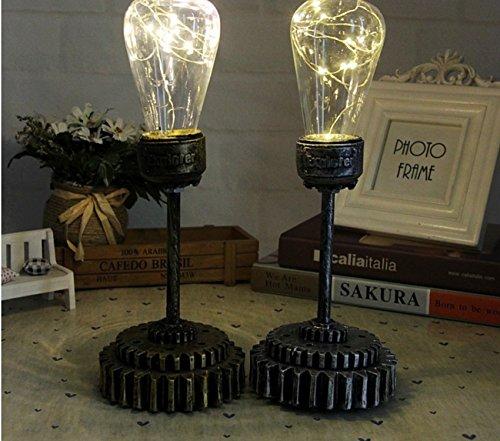 Creative Desk Lamp Vintage Mechanical Holder Resin Decorative Ornaments Night Light Lamp by LHFJ
