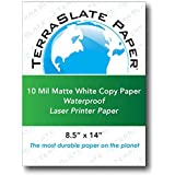"TerraSlate Paper 10 MIL 8.5"" x 14"" Waterproof Laser Printer/Copy Paper 50 Sheets (10x50)"