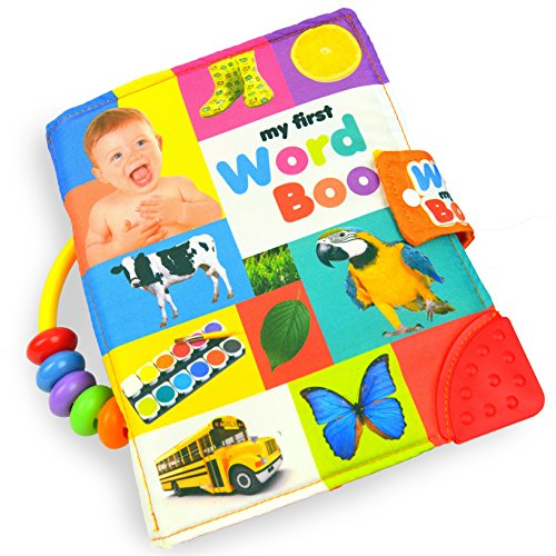TotMart Baby Soft Activity Book, My First Word Book, Best cloth book, baby encyclopedia, holds up in the wash