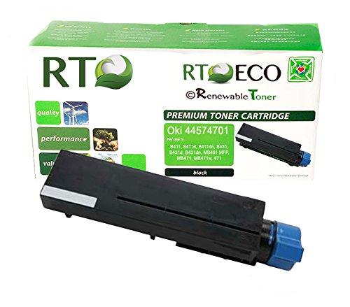 Renewable Toner  Okidata 44574701 Toner (Yield: 4,000 Pages) compatible cartridge for Oki Laserjet Printers: B411, B411d, B411dn, B431, B431d, B431dn, MB461 MFP, MB471, MB471w, 471