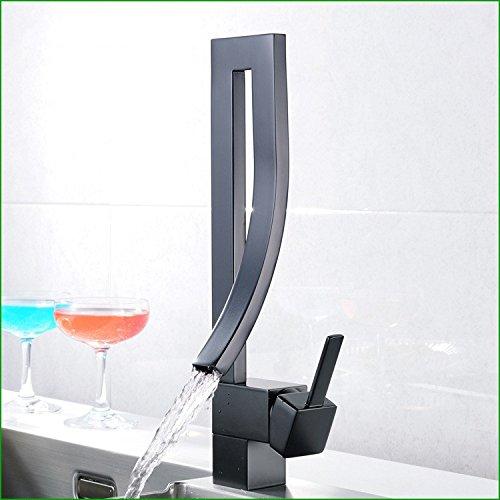 Zxy Home Bagno ZXYil lavello della cucina rubinetto nero rame lavandino rubinetto tap cucina singolo foro mescolando tap