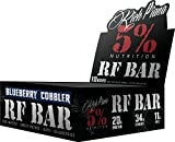 Rich Piana 5% Nutrition, RF Bar Blueberry Cobbler Flavor (10 Count), 20g Protein 78g Serving Size