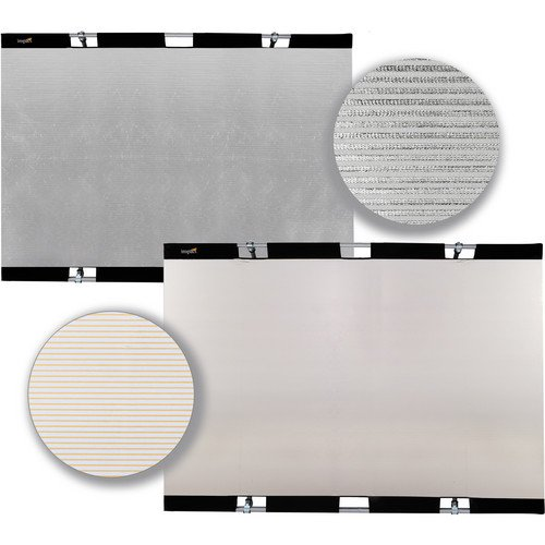 Impact Panel Frame Reflector Kit - Zebra Gold / Zebra Silver (43 x 67'') by Impact