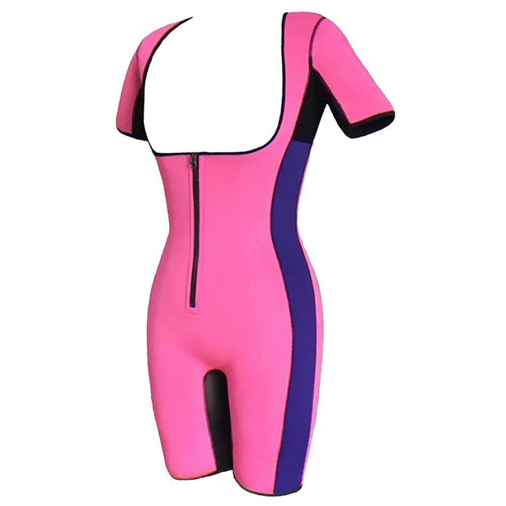 Jolie Femmes Sueur n/éopr/ène Costume Corps Entier Shaper Sauna Taille Trainer Bodysuit Perte de Poids Br/ûleur de Graisse