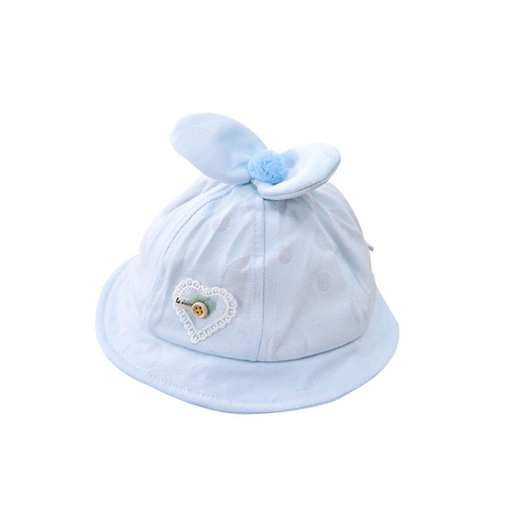 Baby girls summer hat with side bow /& chin strap 0-6 6-12 12-18 Months