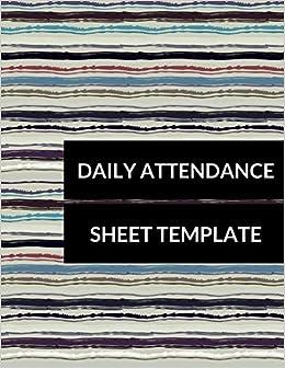 daily attendance sheet template journals for all 9781520569376