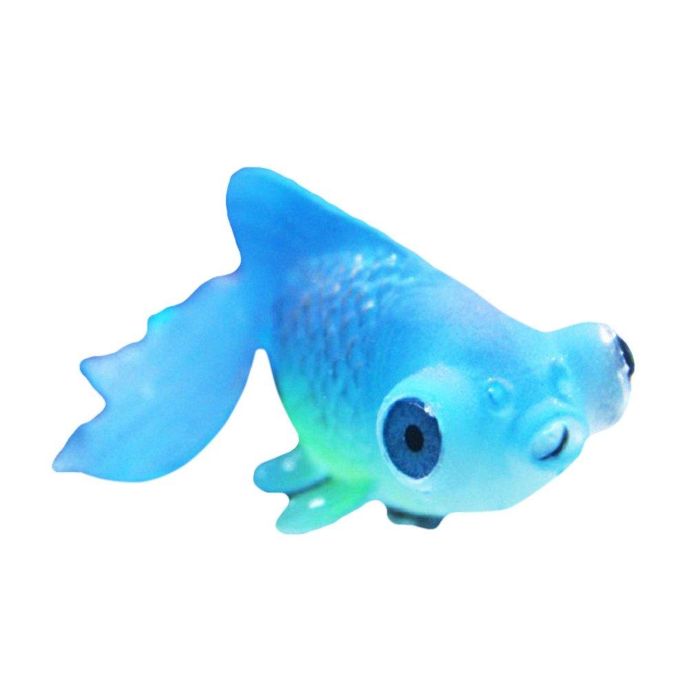 Aquarium Decor Aquarium Lion Fish Tank Landscaping Decor Glowing Effect Animal Ornament (Multicolor B)